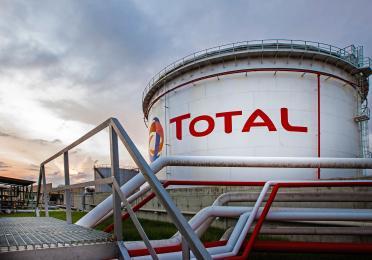 Tanque de oil and gas da Total